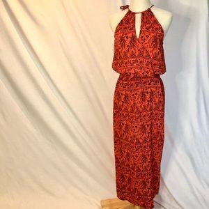 RIPCURL Halterneck Maxi dress, burnt orange Size10